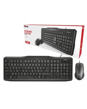Set classicline (tastiera con filo + mouse con filo) - trust 21394 8713439213942 21394 by Trust