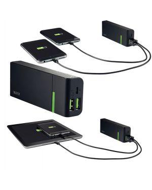 Caricatore portatile 2 porte usb 5200mah leitz complete 63120095 4002432115662 63120095 by Leitz