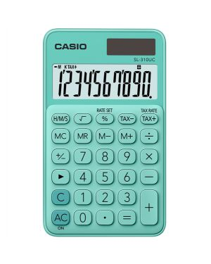 Calcolatrice tascabile sl-310uc verde casio SL 310 UC-GN 4549526700132 SL 310 UC-GN by Casio