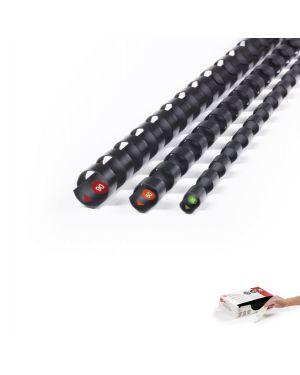 Scatola 100 dorsi procomb 6mm 21 anelli nero sistema quickstep gbc 4400319