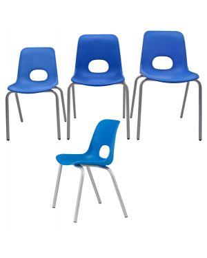 Seduta grande in ppl h46cm blu teddy serie school TYG-BL