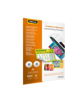 Scatola 50 pouches creative collection admire fellowes 5602301