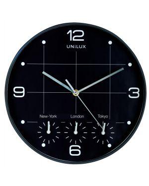 Orologio da parete Ø30,5cm con 4 fusi on time unilux 400094567 3595560025114 400094567