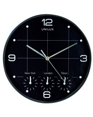 Orologio da parete Ø30,5cm con 4 fusi on time unilux 400094567 3595560025114 400094567 by Unilux
