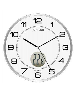 Orologio da parete Ø30,5cm con termometro tempus unilux 400094592 3595560025282 400094592