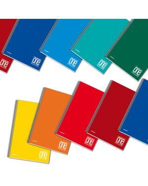 Blocco spiralato A4 4x4 1rigo 80gr One Color Blasetti CONFEZIONE DA 3 6429