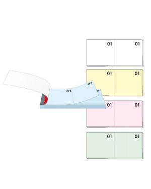 Blocco numerato 1 100 colori assortiti 13x6cm art. 12/10b bm CONFEZIONE DA 10 0102189 BM 12/10B