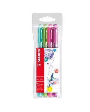 Astuccio 4 pennarelli point max punta 0,8mm azzurro - verde - rosa - viola stabilo 488/4-01 4006381503662 488/4-01