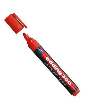 Marcatore permanente 300 punta conica rosso edding CONFEZIONE DA 10 4300002