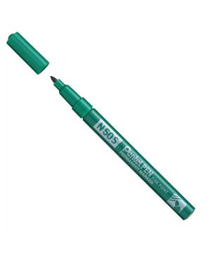 Marcatore n50 slim verde punta tonda 3,18mm pentel N50S-D