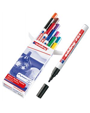 Astuccio 10 marcatori edding 751 punta fine vernice colori assortiti 4-751-9-999 4004764087747 4-751-9-999 by Edding