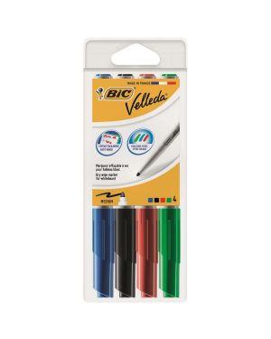 Astuccio 4 pennarelli velleda 1741 punta tonda whiteboard colori assortiti bic 1199001744 3086120017446 1199001744 by Bic