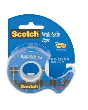 Nastro adesivo scotch® wall-safe 19mmx16,5mt in chiocciola 183-isp 36518  36518