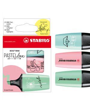 Astuccio 3 evidenziatori stabilo boss mini pastellove verde - rosa - celeste 07/03-57 4006381514477 07/03-57 by Stabilo