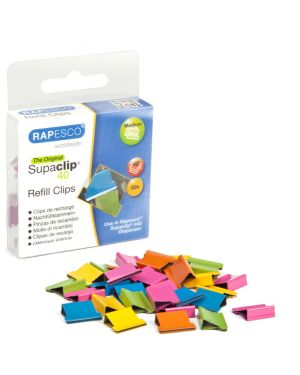 50 Molle di ricambio per Supaclip 40 Colori assortiti Rapesco RC4050MC
