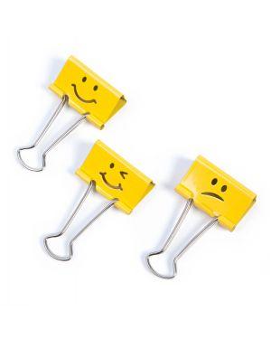 20 molle fermacarte da 19mm emoji giallo rapesco 1351 5018505025485 1351