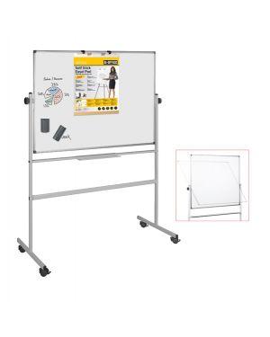 Lavagna magnetica girevole professional 90x120cm bi office QR0203