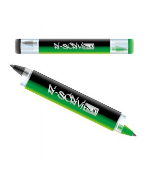Penna sfera riscrivi duo cancellabile 2in1 nero - verde osama OW 12054 N/V 8007404244957 OW 12054 N/V by Osama