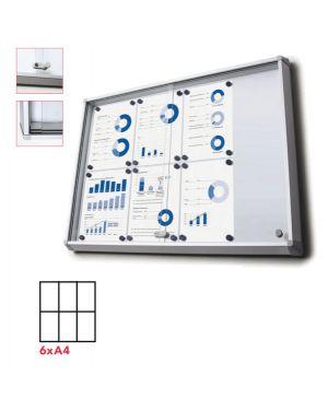 Bacheca interni magnetica 6xa4 ante scorrevoli jansen SCSL6xA4 8595578316278 SCSL6xA4