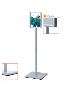 Display catching pole standard a4 bifacciale CAPOA4R25D 83295 A CAPOA4R25D by Studio T