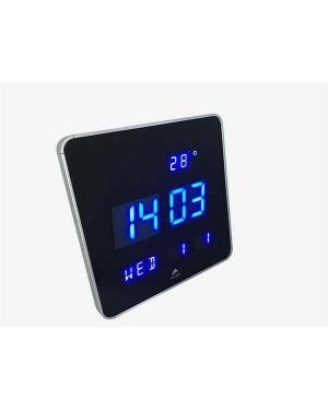 Orologio digitale da parete 28x28x3,4cm led alba HORLEDSQ 3129710015993 HORLEDSQ by Alba