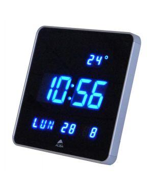 Orologio digitale da parete 28x28x3,4cm led alba HORLEDSQ 3129710015993 HORLEDSQ
