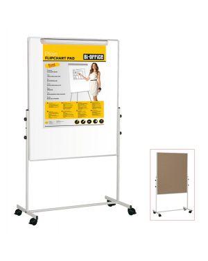 Lavagna duo a doppia superficie 100x100cm bi-office EA6048075 5603750506874 EA6048075