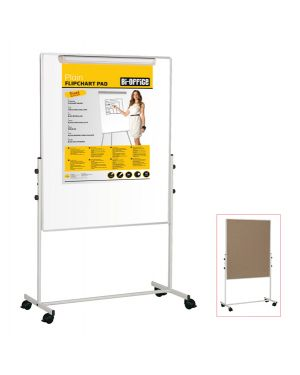 Lavagna duo a doppia superficie 100x100cm bi-office EA6048075 5603750506874 EA6048075 by Bi-office