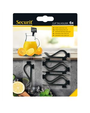 Set 6 supporti clip per tag securit TAG-HLD-CP 8719075283257 TAG-HLD-CP