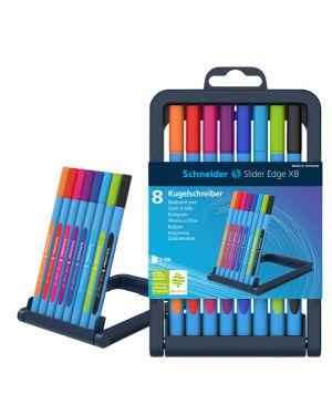 Astuccio 8 penne a sfera slider edge xb 8 colori ass. schneider 152279 4004675119742 152279
