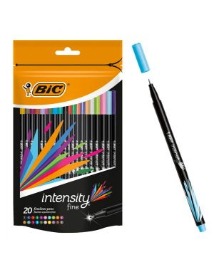 Astuccio 20 fineliner Intensity 0,8mm colori assortiti BIC 942097