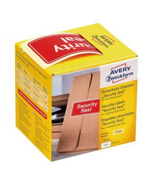 """Rotolo da 100 etichette per spedizione con icona """"security seal"""" 78x38m avery 7310 4004182173107 7310 by Avery"""