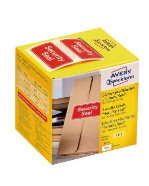 """Rotolo da 200 etichette per spedizione con icona """"sicurity"""" 38x20m Avery 7311"""