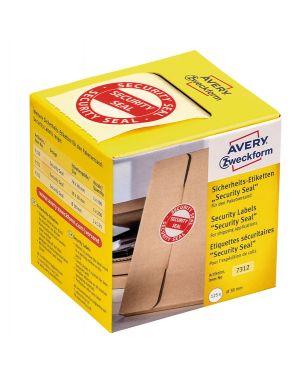 """Rotolo da 125 etichette per spedizione con icona """"security seal"""" Ø38mm avery 7312  7312 by Avery"""