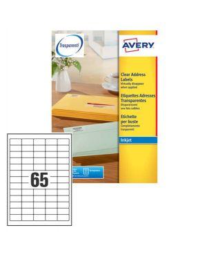 Etichetta adesiva j8651 bianca 25fg a4 38,1x21,2mm (65et - fg) inkjet avery J8651-25 5014702178412 J8651-25