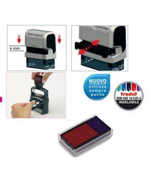 Blister da 3 tamponi 6 - 4912-2 blu - rosso trodat 1496 9008056014966 1496