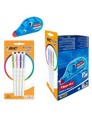 Promo box 10 correttore a nastro pocket mouse tipp-ex +4cristal®up fun bic 949903 3086123494961 949903