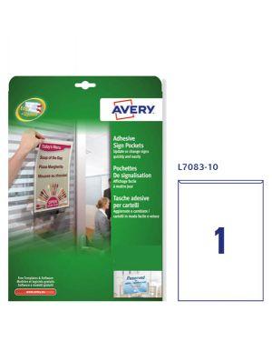 Conf. 10 tasche adesive a4-21x29,7cm l7083 avery L7083-10 4004182048481 L7083-10