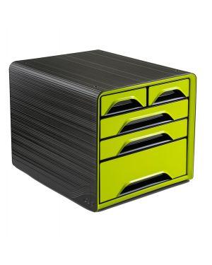 Cassettiera 5 cassetti misti nero/verde anice 7 213 smoove cep 1072130301