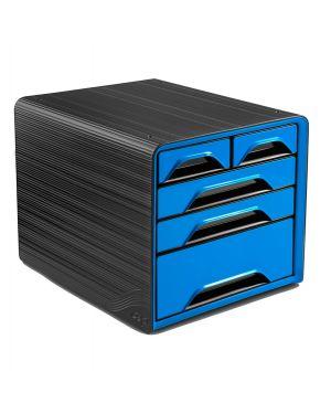 Cassettiera 5 cassetti misti nero/blu oceano 7 213 smoove cep 1072130351