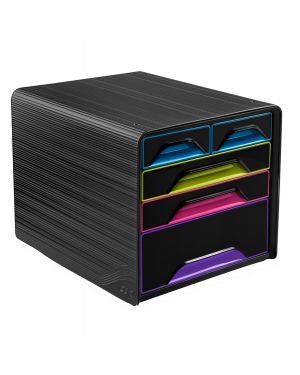 Cassettiera 5 cassetti misti nero/multicolore 7 213 smoove cep 1072130411