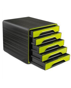 Cassettiera 5 cassetti standard nero/verde anice 7 111 smoove cep 1071110301