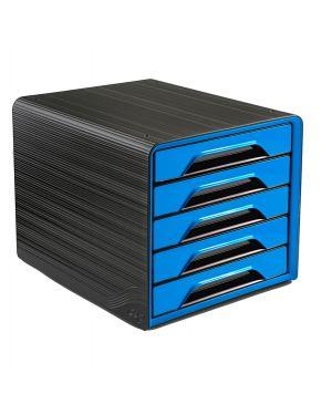 Cassettiera 5 cassetti standard nero/blu oceano 7-111 Smoove Cep 1071110351 by Cep
