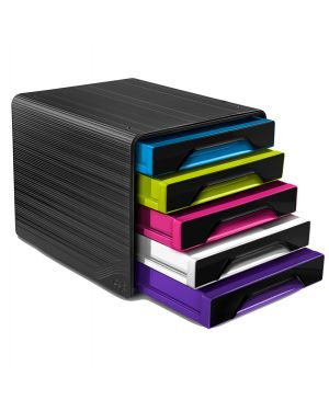 Cassettiera 5 cassetti standard nero/multicolori 7 111 smoove cep 1071110411