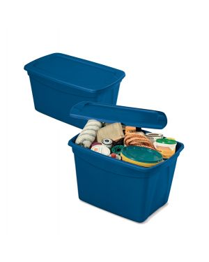 Contenitore multiuso totebox 61,3x47x40cm blu terry 1002783 8005646027833 1002783 by Terry