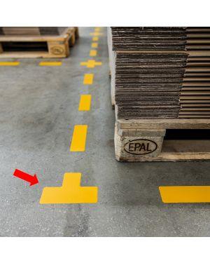 "Conf.10 adesivi da terra ""t"" 10x15cm 1700 durable 1700-04 4005546983530 1700-04"