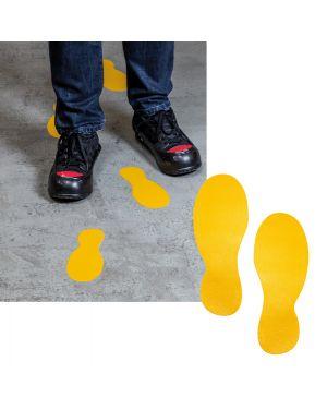 "Conf. 5 paia ""impronte piedi"" adesivi da terra 9x24cm 1727 durable 1727-04 4005546982540 1727-04"