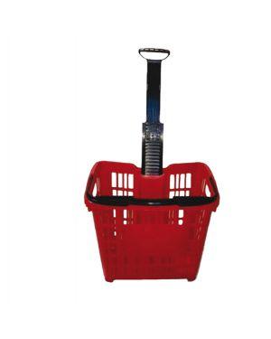 Cesto trolley antiurto 30lt rosso printex cpt/120002r 8034049917564 cpt/120002r