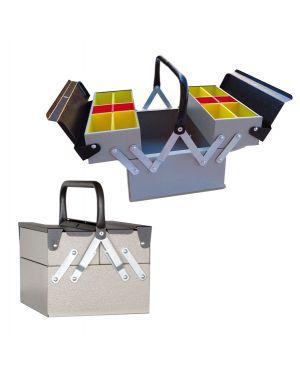 Cassetta portautensili in metallo a 3 scomparti 7026/3 grigio 8022715702637 7026/3 grigio by Metalplus