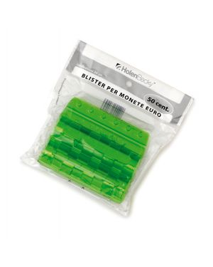Blister 20 portamonete in pvc 50cent verde 8005/20 8028422680053 8005/20